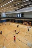 Зала бадминтона Гонконга в спортивном центре Hau вида Стоковые Фото