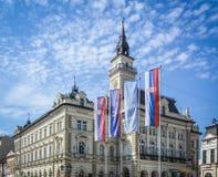 зала Венгрия города здания columned Стоковая Фотография