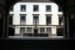 зала Венгрия города здания columned Стоковые Фотографии RF