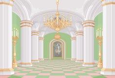 Зала дворца иллюстрация вектора