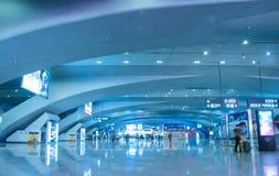 Зала железнодорожного вокзала Гуанчжоу южная Стоковое Фото