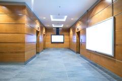 Зала лифта в деловом центре Стоковое Фото