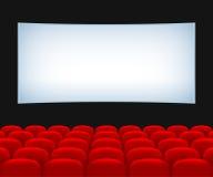 Зала кинотеатра иллюстрация штока