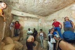 Зала посещения туристов внутри пирамиды Гизы Египет Стоковые Фотографии RF