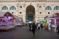 Зала рынка в Ливорно, Италии Стоковые Фотографии RF