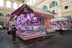 Зала рынка в Ливорно, Италии Стоковая Фотография RF
