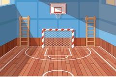 Зала спортзала школы или университета бесплатная иллюстрация