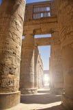 Зала стиля гипо на виске Karnak Стоковые Фото