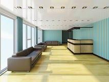 Зала с креслами иллюстрация вектора