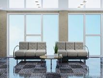 Зала с софами бесплатная иллюстрация