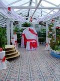 Зала торжества свадьбы в саде Стоковые Изображения