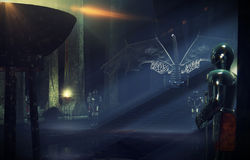 Зала трона более близкая Стоковое Изображение RF