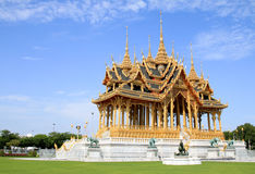 Зала трона Borom Mangkhanusoranee королевская приемная внутри дворец Dusit Стоковая Фотография RF