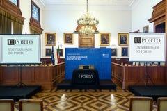 Зала церемонии на rectorate университета Порту Стоковое Изображение RF