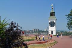 зала часов города Австралии обнаружила местонахождение городок башни perth западный Стоковое Изображение RF