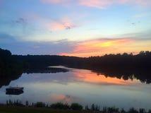за валами 2 захода солнца лета сосенки стоящими стоковые изображения rf