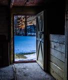 за дверью Стоковое Фото