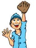 Задвижка мальчика бейсбола Стоковые Фото
