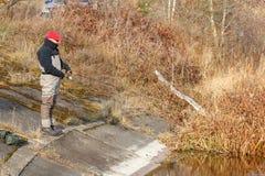 Задвижка рыболова щука Стоковые Фото