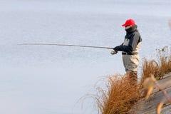 Задвижка рыболова щука Стоковые Изображения RF