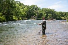 Задвижки рыболова семг стоковые фотографии rf