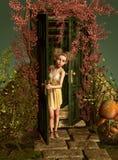 За дверями, 3d CG иллюстрация вектора