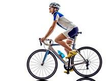 Задействовать велосипедиста спортсмена ironman триатлона женщины Стоковые Изображения