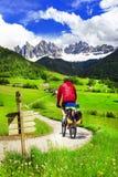 Задействующ в доломитах, северная Италия Стоковые Изображения