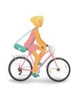 Задействуя женщина в пинке Стоковая Фотография RF