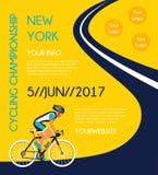 Задействуя плакат конкуренции или гонки Стоковое Изображение