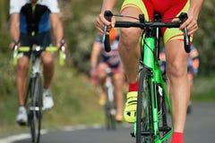 Задействуя спортсмены велосипедиста конкуренции ехать гонка Стоковое Изображение