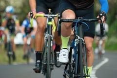 Задействуя спортсмены велосипедиста конкуренции ехать гонка Стоковое фото RF