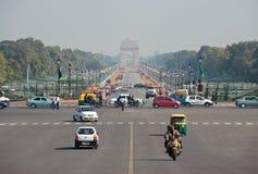 За день Rajpath до дня республики в Нью-Дели Индии Стоковая Фотография
