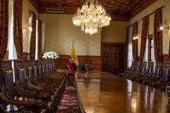 Зал заседаний правления эквадорского дворца Стоковая Фотография RF