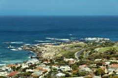 Залив лагерей, Атлантический океан, Кейптаун Стоковое Изображение RF