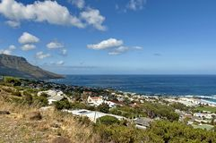 Залив лагерей, Атлантический океан, Кейптаун Стоковые Фотографии RF