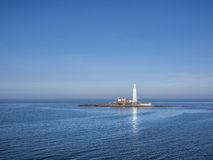 Залив Англия Whitley маяка St Mary Стоковые Фотографии RF