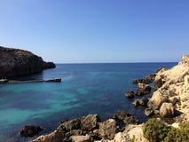 Залив анкера, Мальта Стоковое Изображение RF
