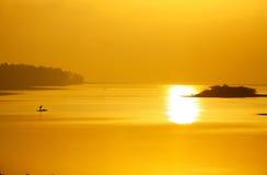 Залив Бенгалии на восходе солнца Стоковые Фотографии RF