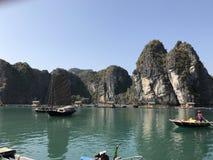 Залив Вьетнама Halong Стоковое Изображение RF