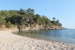 Залив в Греции (остров Thassos) Стоковые Фото