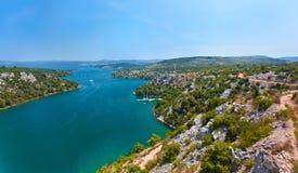 Залив в Средиземном море, Черногории Стоковая Фотография