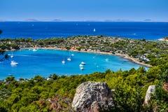 Залив в Хорватии Стоковые Фото