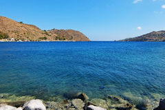 Залив в Эгейском море в Греции Стоковые Фотографии RF