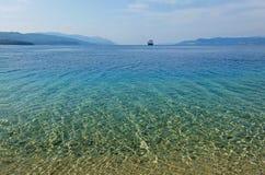 Залив в Эгейском море в Греции Стоковая Фотография