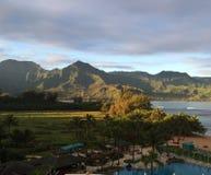 Залив Гавайские островы Hanalei стоковая фотография rf