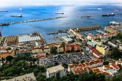 Залив Гибралтара и городка Стоковые Изображения RF