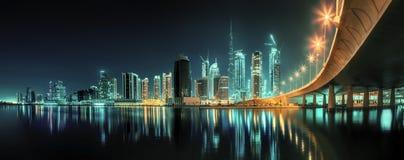 Залив дела Дубай, ОАЭ стоковое фото