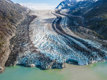 Залив ледника: где ледник встречает море Стоковые Изображения RF