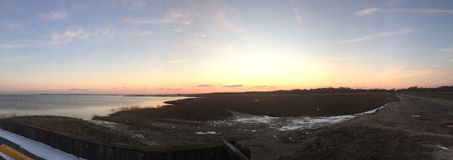 Залив захода солнца стоковое фото